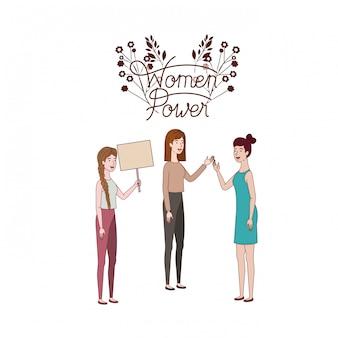 Femmes avec label femmes pouvoir personnage