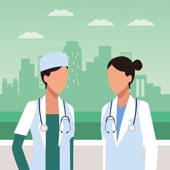 Femmes médecins parlant
