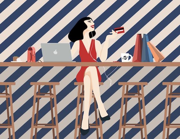 Les femmes et les modes de vie shopping.