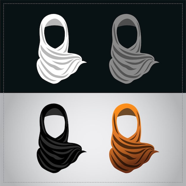 Femmes musulmanes portant le hijab orange