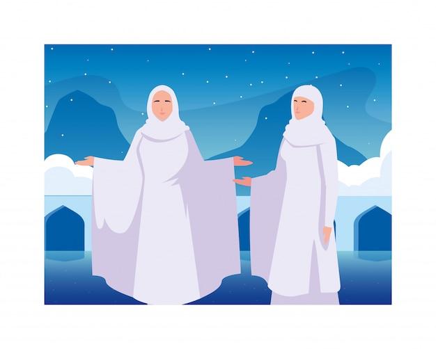 Les femmes pèlerin hajj, jour de dhul hijjah