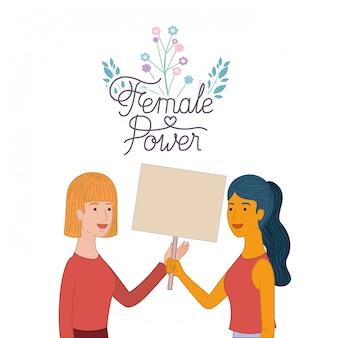 Femmes avec personnage féminin