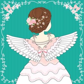Les femmes portent des ailes d'ange