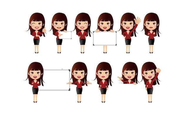 Femmes avec des poses différentes