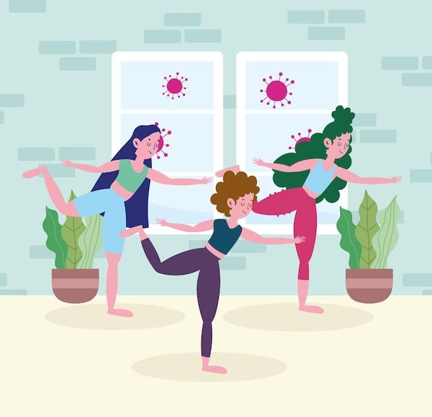 Femmes pratiquant le yoga