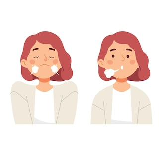 Les femmes qui font des exercices respiratoires inspirent et expirent pour un soulagement calme du stress