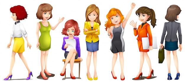 Les femmes qui travaillent