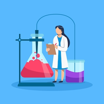Femmes scientifiques travaillant
