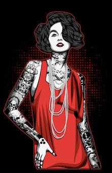 Les femmes avec le tatouage