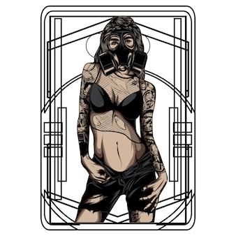 Femmes avec tatouage