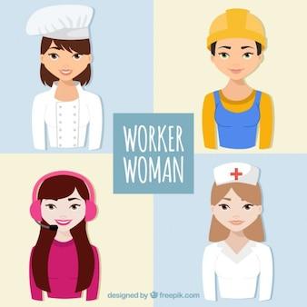 Les femmes de travailleurs