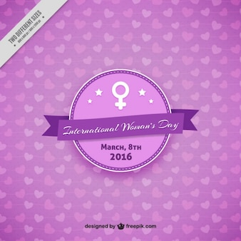 Femmes violet day background