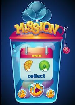 Fenêtre de collecte de mission multicolore