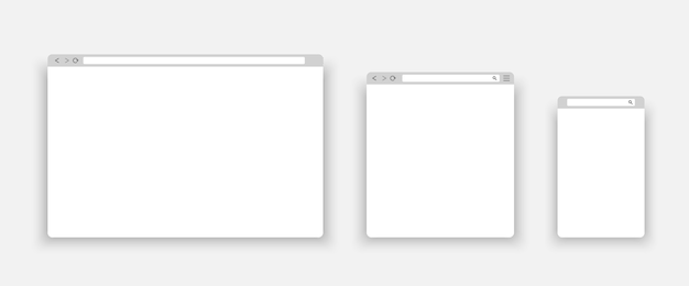 Fenêtre du navigateur sur votre pc, tablette et téléphone portable.
