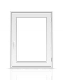 Fenêtre sur fond blanc.