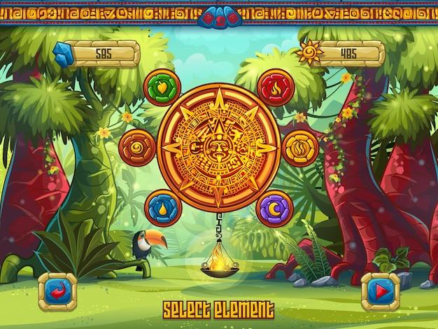Fenêtre de jeu d'illustration sélectionner les éléments d'un jeu d'ordinateur