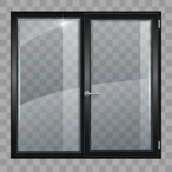 Fenêtre noire avec verre transparent
