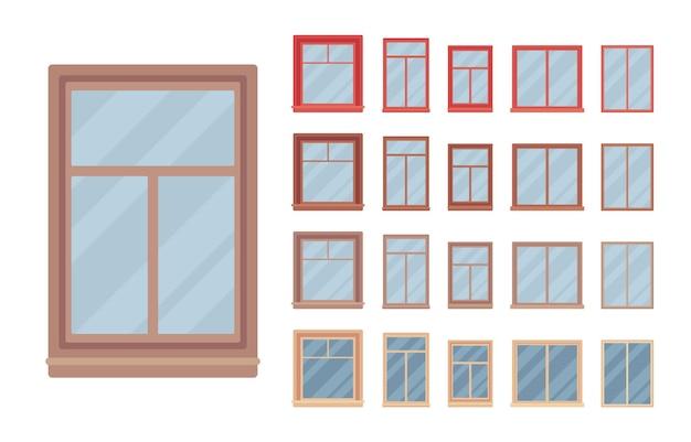 Fenêtre pour bâtiment équipée de verre dans un cadre