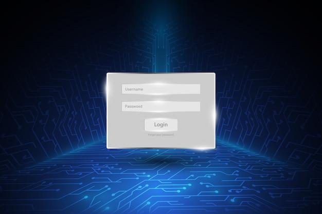 Fenêtre de sécurité du mot de passe