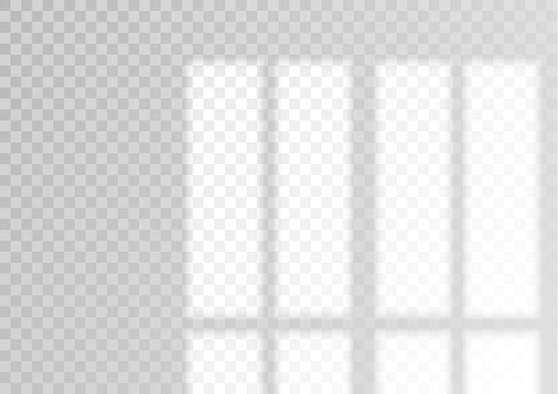 Fenêtre de superposition transparente et ombre des stores effet de lumière réaliste