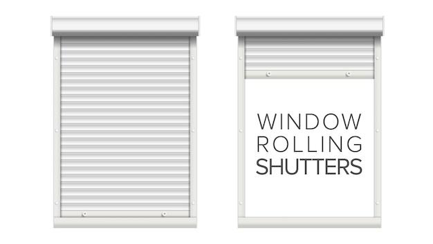 Fenêtre avec volets roulants