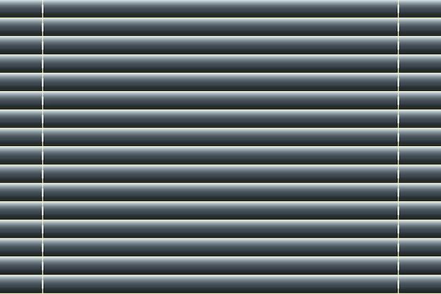 Fenêtres stores dans un style réaliste. illustration vectorielle