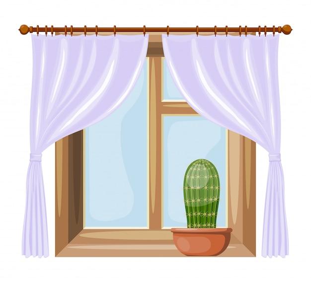Fenêtres de style dessin animé