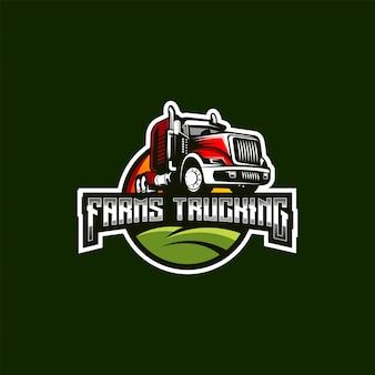 Ferme, camionnage, logo