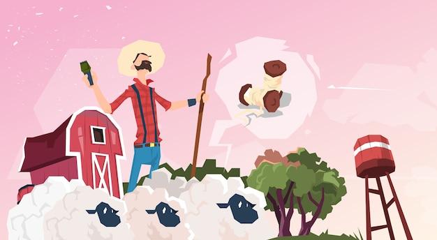 Ferme d'élevage de moutons d'élevage