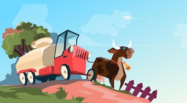 Ferme d'élevage de vaches laitières