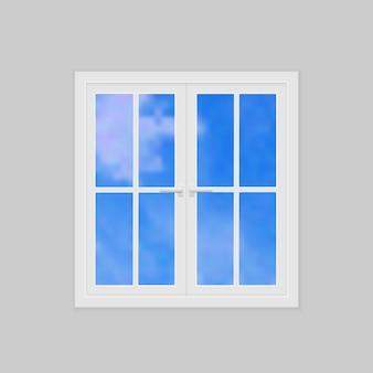 Fermé la fenêtre en plastique vecteur réaliste illustration vectorielle