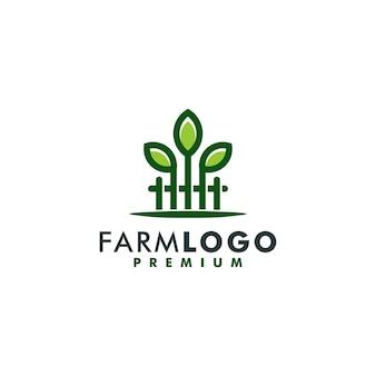 Ferme logo modèle design icône logotype vecteur