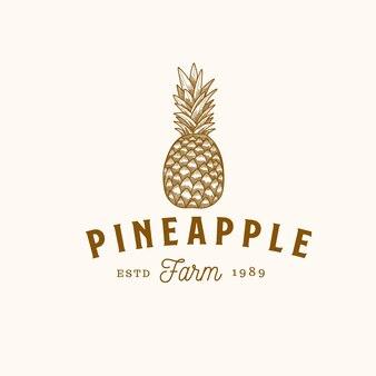 Ferme vintage de fruits d'ananas