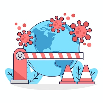 Fermeture de broder de coronavirus