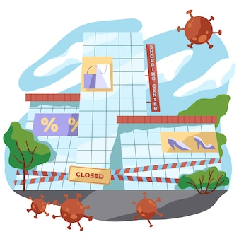 Fermeture d'un magasin en raison d'un virus pandémique