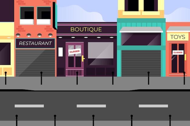 Fermeture de magasins en raison d'une pandémie de coronavirus