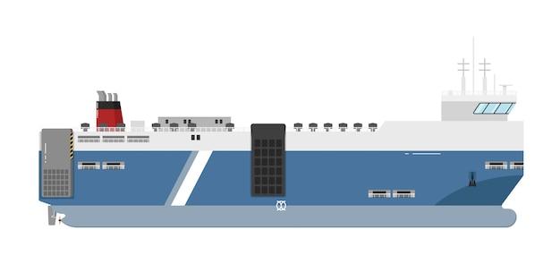 Ferryboat isolé sur blanc