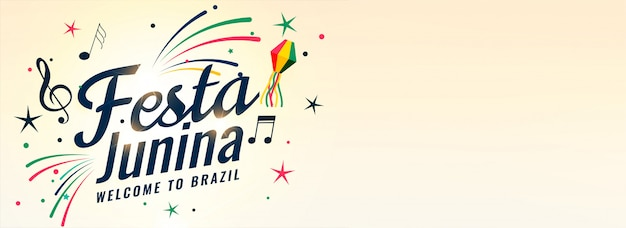 Festa junina bannière de fête de la musique brésilienne