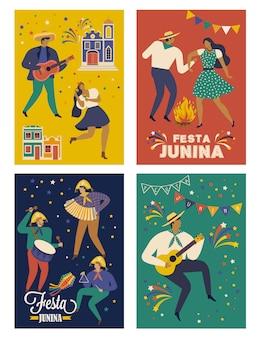 Festa junina brésil juin cartes de festival