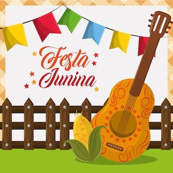 Festa junina concept cartoon