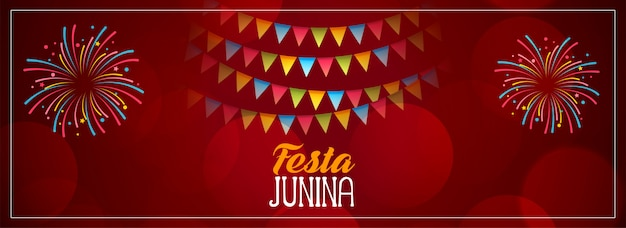 Festa junina design rouge célébration