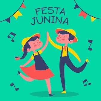 Festa junina dessiné à la main