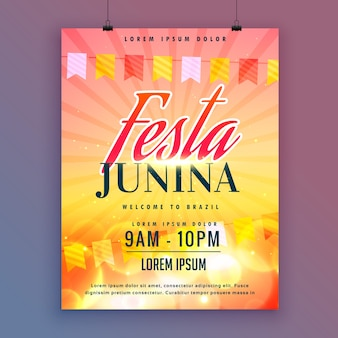 Festa junina invitation carte design vecteur