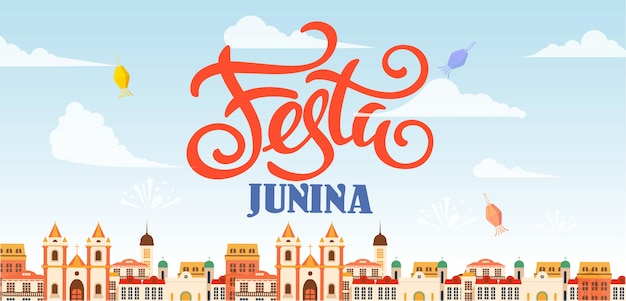 Festa junina lieu de vacances pour le texte