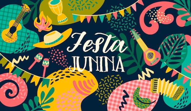 Festa junina. modèle de vecteur