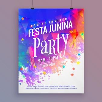 Festa junina party flyer template design