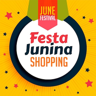 Festa junina shopping bannière design