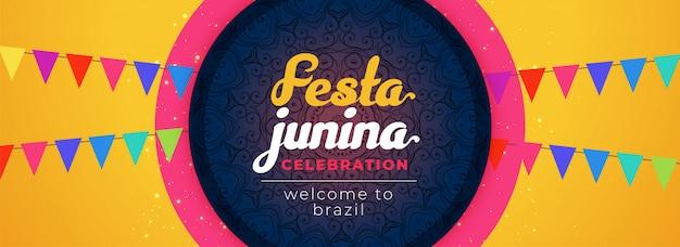 Festa junina superbe design décoratif de célébration