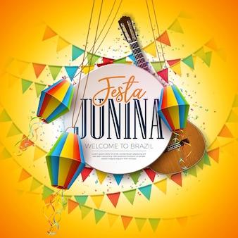 Festa junina traditionnel festival brésil conception