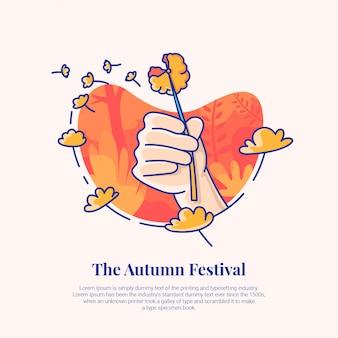 Festival d'automne de pissenlit